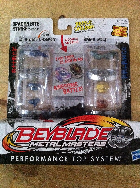 Beyblade Metal Masters 2-Pack Lightning L-Drago & Earth Wolf 39456 online bestellen