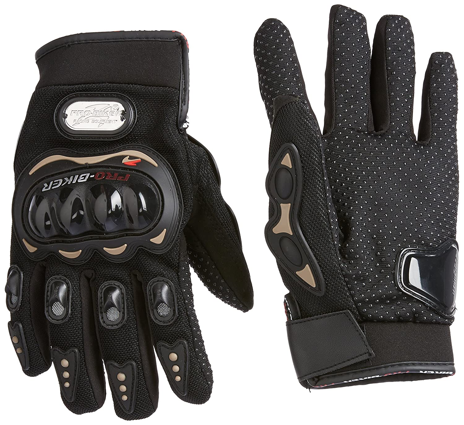 Buy leather motorcycle gloves - Probiker Leather Motorcycle Gloves Black L Amazon In Car Motorbike