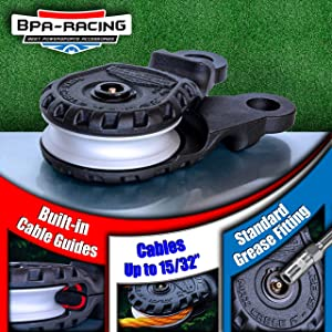 """Pulley Block With Easy Grip Handle Offroad Recovery Emergency Kit Heavy Duty Winch Accessories BPA-RACING 10-Ton Snatch Block Works With 3//4 D-Rings /& Synthetic Rope up to 15//32/"""""""