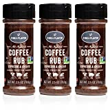 Fire & Flavor Natural Espresso and Chilies Coffee Rub, 2.5 ounce Bottles, Pack of 3