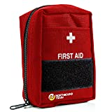 Northbound Train First Aid Kit, Fully Stocked - IFAK - Premium Contents for Tactical First Aid, Camping, Travel, and Hiking (Color: Red, Tamaño: 5l x 3w x 7h (5x3x7 inches))