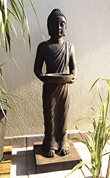 Statue bouddha debout debout 100 cm d coration zen pour - Statue bouddha interieur maison ...