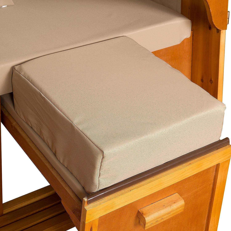Strandkorb Auflagekissen-Set für Fussablage, sandbeige, 2er Set, LILIMO ® jetzt kaufen