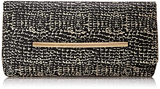 Aldo Banana Baguette Clutch, White/Black, One Size