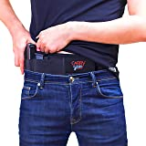 CarryGear Breathable Belly Band Holster for Concealed Carry with Thumb Break   for Men and Women   Right and Left Hand Draw (Color: Black)