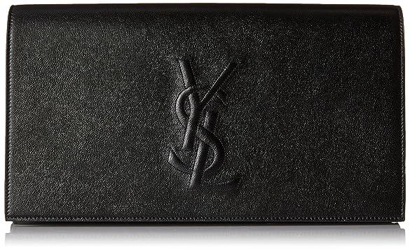 Amazon.com: Saint Laurent Yves YSL Belle Du Jour Large Black ...