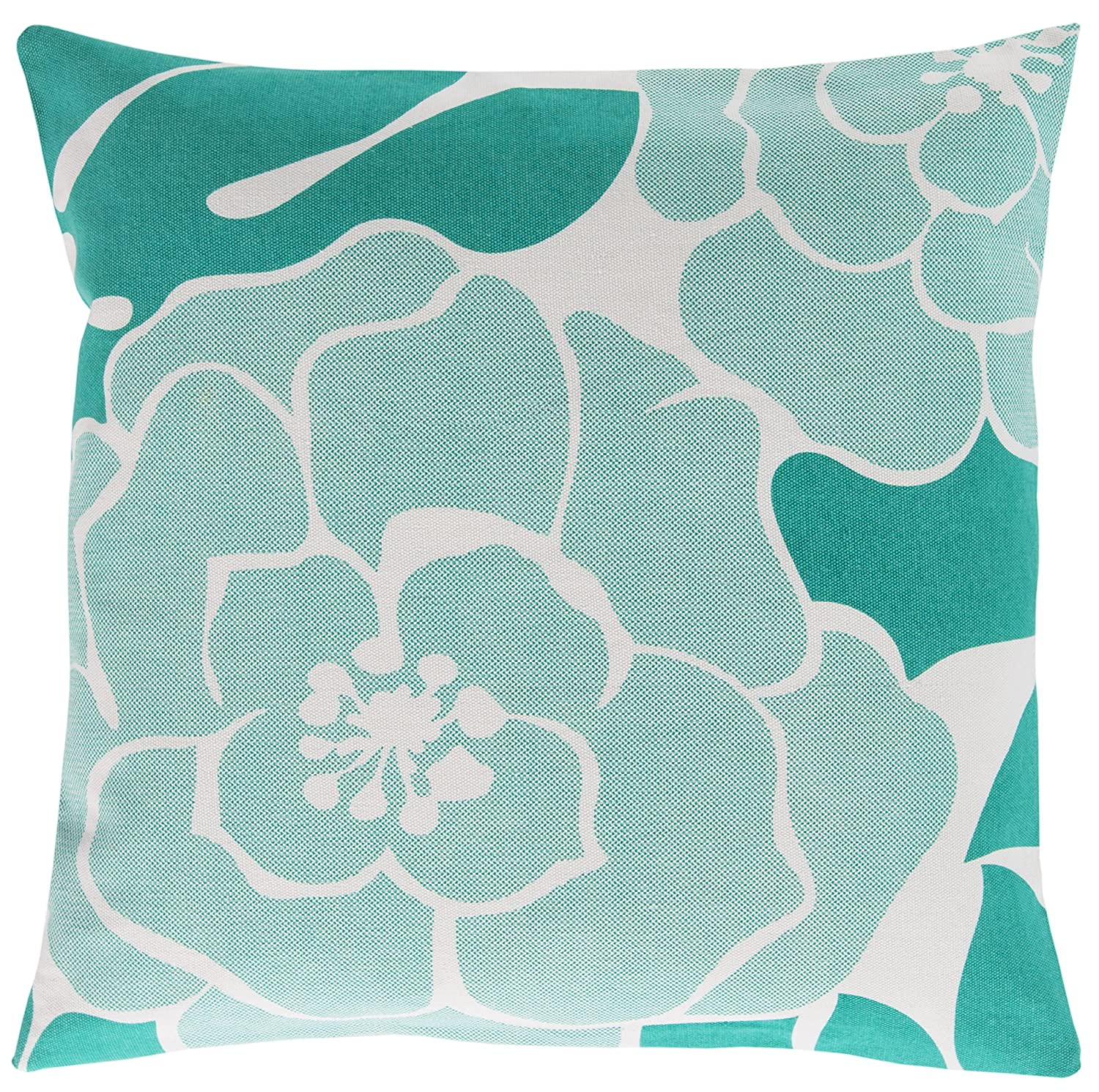 Surya Florence Broadhurst FB008-2020P Synthetic Fill Pillow, 20 by 20-Inch, Teal
