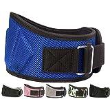 Fire Team Fit Weight Belts for Lifting, Weight Lifting Belt, Lifting Belt, Gym Belt for Men, Lifting Belt Men (Blue, 30