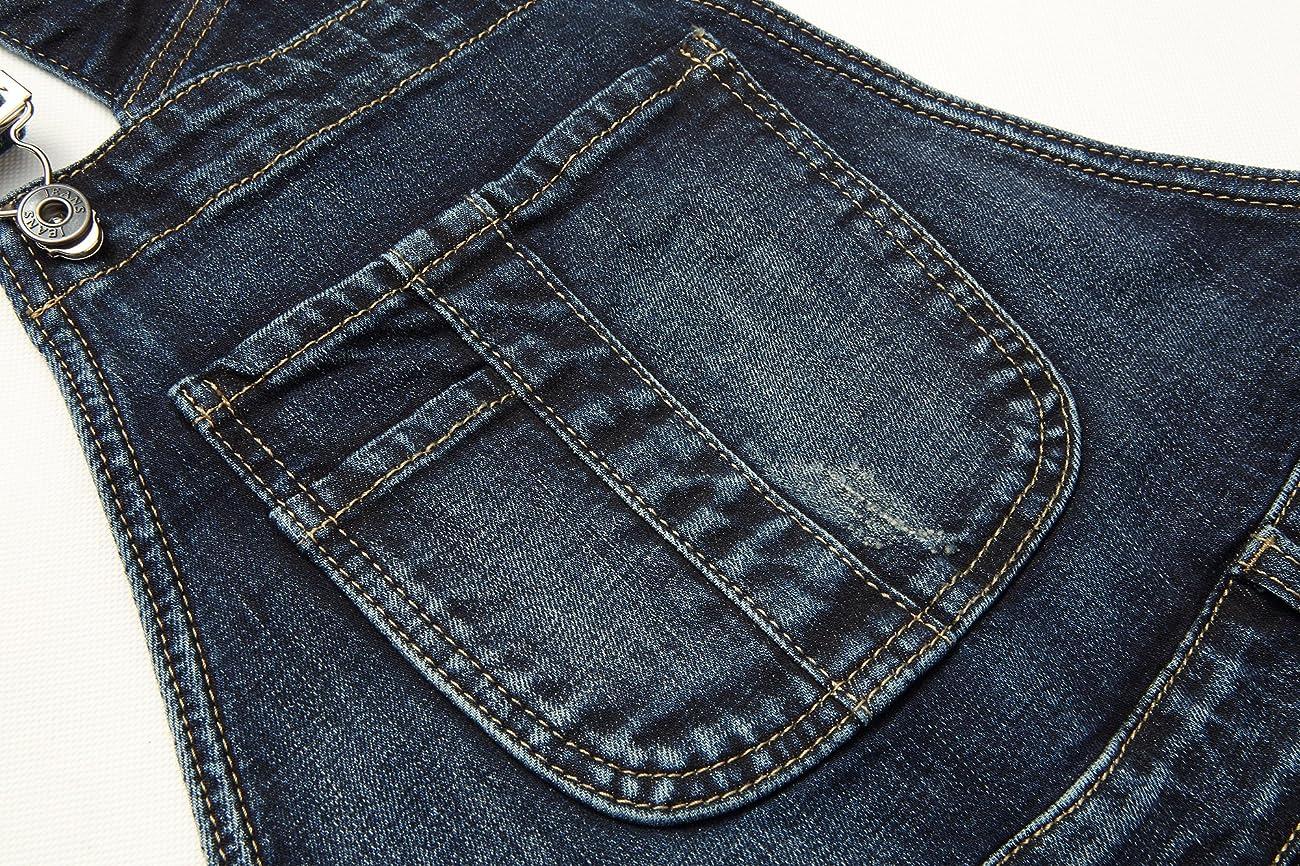 Eurssto Women's Basic Vintage Denim Jeans Overalls Pants Navy 3