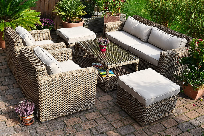 Lounge Wohnlandschaft Provence NATUR 1 Sofa 2 Sessel