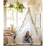 Luxury Lace Teepee for Girls & Adults (XX-Large 7' Tall) 5-Sided Sleeping Tent for Indoor & Outdoor Use | Wedding, Birthday, Sleepover, Photography Décor | Kids Teepee