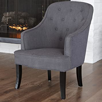 Metro Shop Christopher Knight Home Sophia Dark Grey Fabric Chair-Sophia Dark Grey Fabric Chair