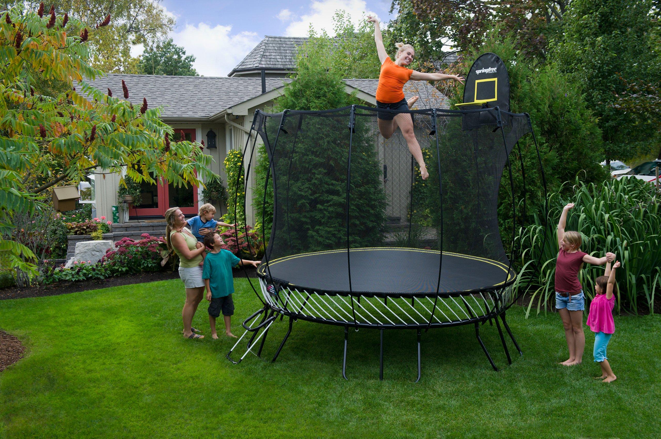 Springless trampoline classy baby gear for Springfree trampoline