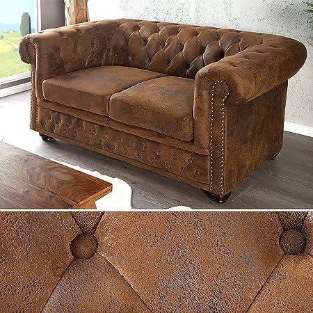 DeWall Design - Sofá Chester de dos plazas (estilo antiguo)