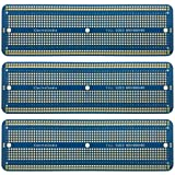 ElectroCookie Solderable Breadboard Full-Size PCB Board for Arduino and Electronics Projects, Gold-Plated (3 Pack, Blue)
