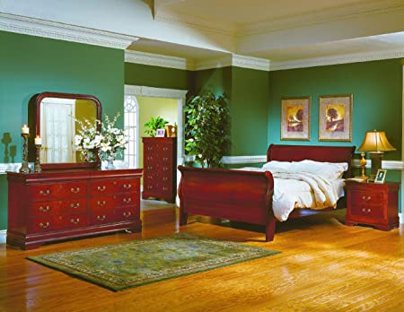 Eastern King Sleigh Bed of Dijon Collection by Homelegance