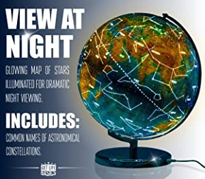 13 inch illuminated world globe compass by getlifebasics see the 13 inch illuminated world globe compass by getlifebasics see the earth and the stars in gumiabroncs Images
