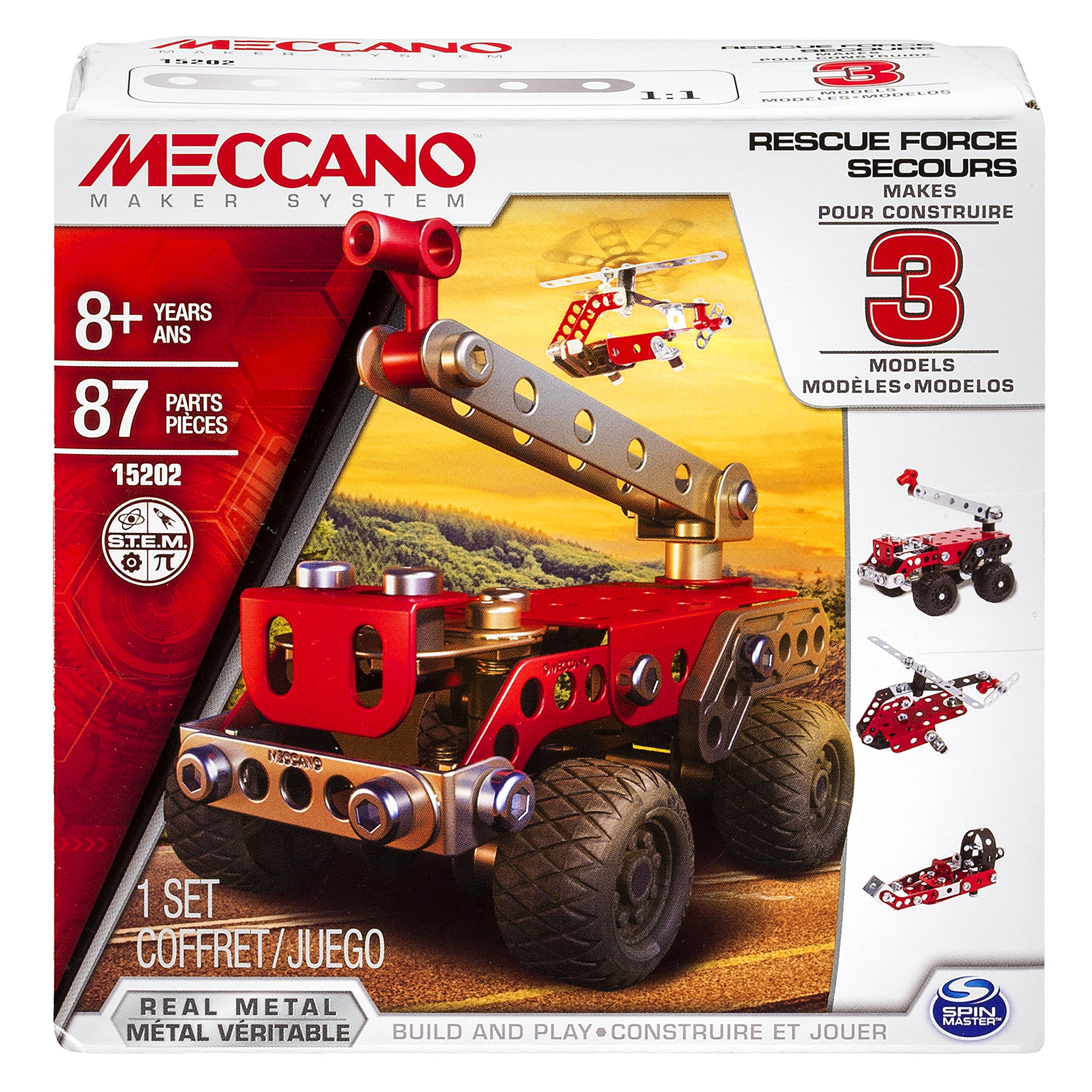meccano aerial rescue instructions