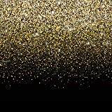 Black and Gold Photo Booth Backdrop Banner - Perfect Party Decoration for Birthday, New Year's Eve, Bachelorette, Weddings, Christmas (6ft x 6ft) (Color: Black, Gold, Tamaño: 6ft x 6ft)