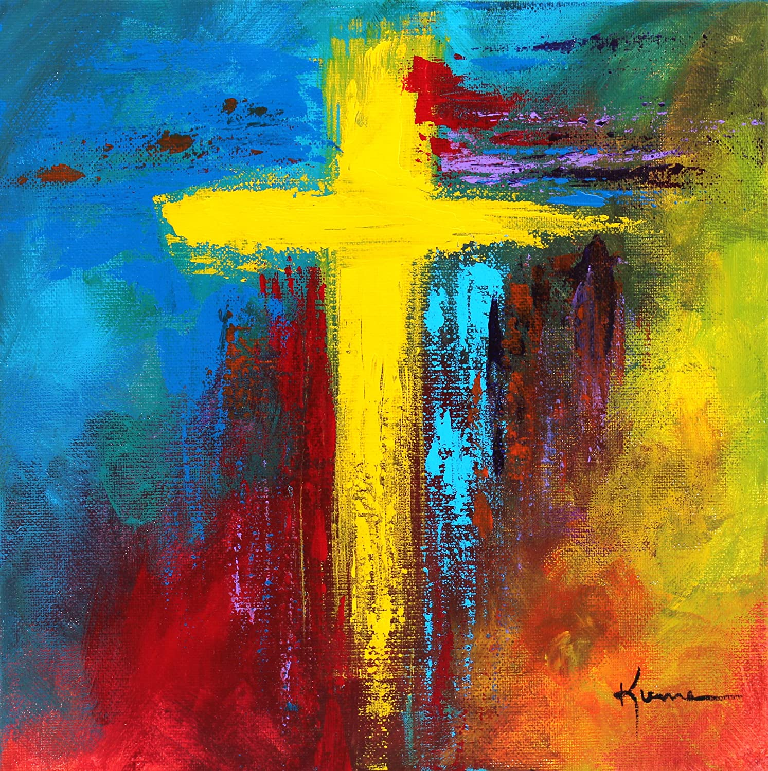 Abstract Cross Paintings Amazon.com Cross Painting Art