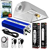 Yield Lab Horticulture 600w HPS MH Grow Light Cool Hood Reflector Kit Easy Setup Full Spectrum System For Indoor Plants And Hydroponics – Free Timer and 12 Week Grow Guide DVD (Color: 2 BULBS (HPS + MH), Tamaño: 600 Watts)