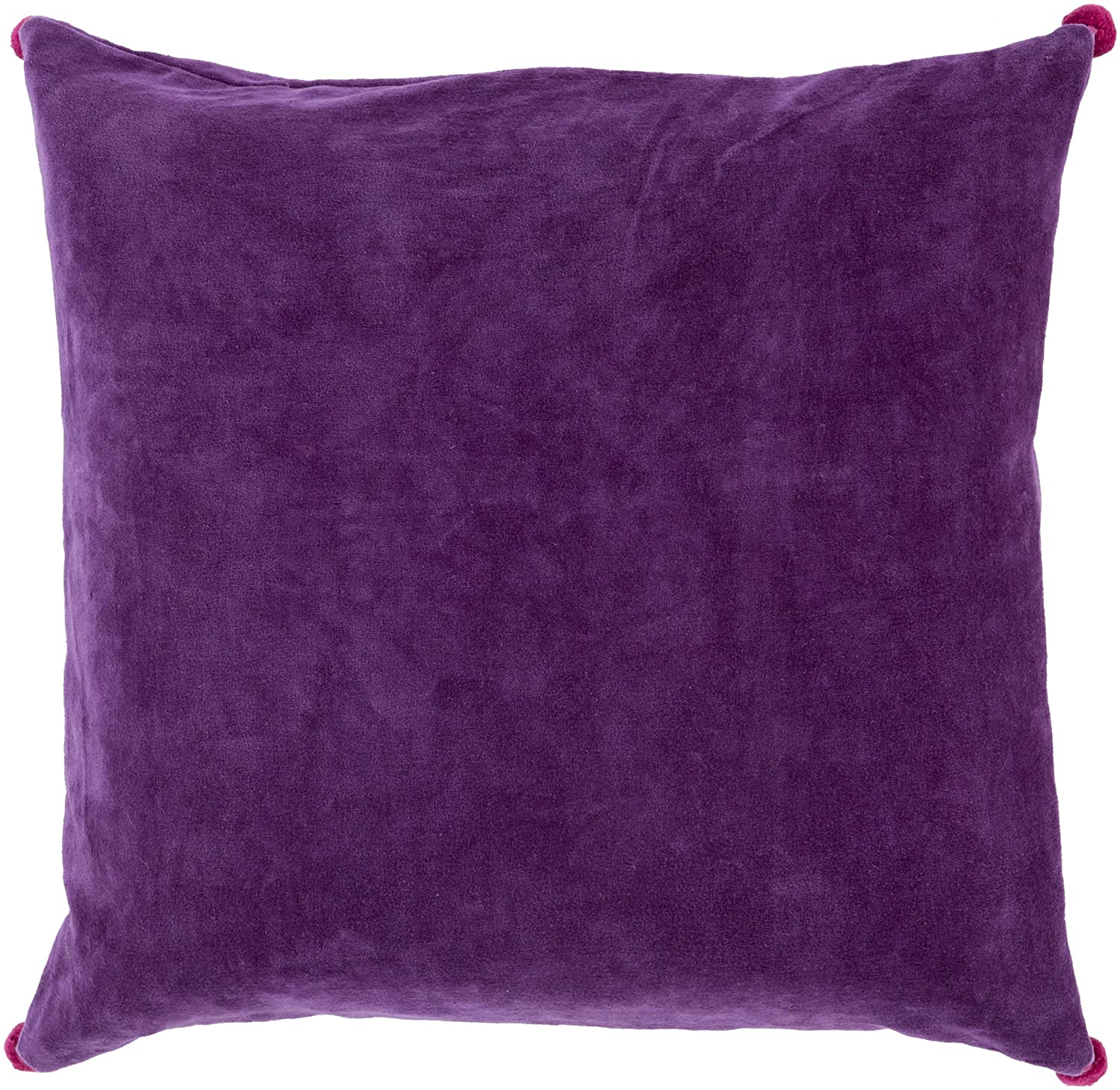 Surya VP002-1818D Down Fill Pillow, 18-Inch by 18-Inch, Violet/Magenta