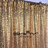 ShiDianYi 4FTX6FT-Gold-SEQUIN Photo Backdrop,Party/Prom Photography Background,Wedding Photo Booth (Gold) (Color: Gold, Tamaño: 4FTx6FT)