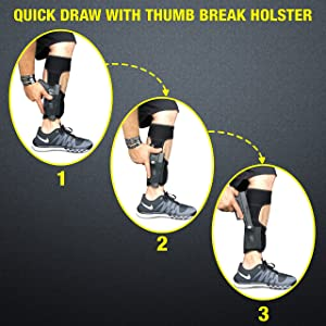 CONCEALED CARRIER (TM) Ankle Holster For Concealed Carry