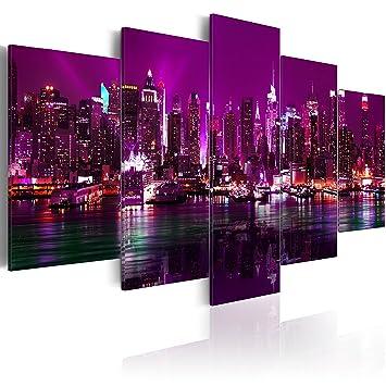 impression sur toile toile 200x100 cm grand format 5 5 parties image sur toile. Black Bedroom Furniture Sets. Home Design Ideas