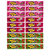 Hubba Bubba Gum Variety Pack of 18 - Strawberry Crush, Outrageous Original, and Strawberry Watermelon