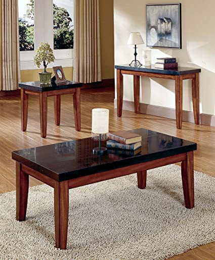 Steve Silver Montibello Rectangular Granite Cherry Coffee Table