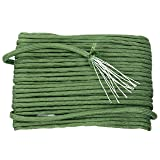 YaeTek 750lb 100FT Paracord / Parachute Cord - Genuine Mil Spec Type IV 750lb Paracord Used by the US Military (MIl-C-5040-H) - 100% Nylon (Color: Army green-100Feet)