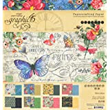Graphic 45 4501775 Flutter 8x8 Pad Craft Paper, Multi (Color: Multi, Tamaño: On? Pa?k)