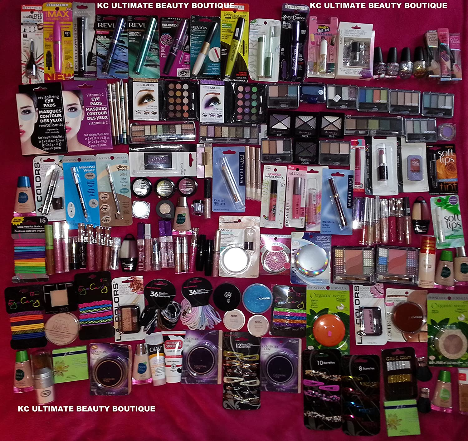 10-Piece-Lot-of-Brand-name-Cosmetic-Makeup-Rimmel-L-oreal-hard-Candy-maybelline-More