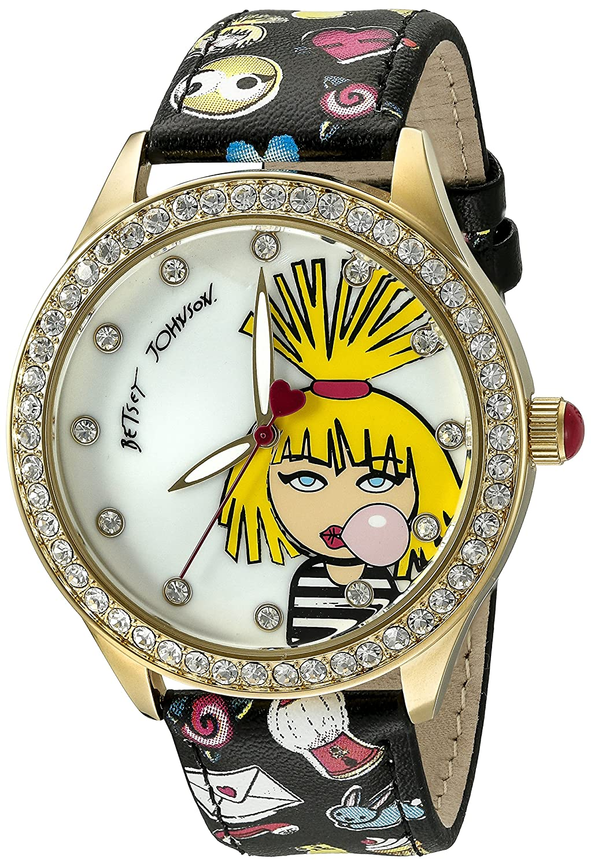 Betsey Johnson Women's BJ00131-66 Analog Display Quartz Multi-Color Watch
