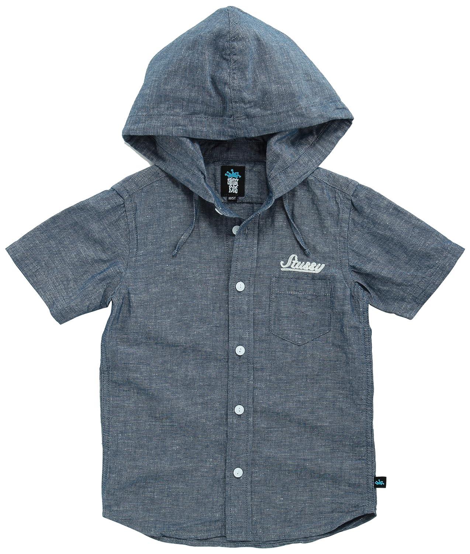 (ステューシー)STUSSY Kids キッズ Chambrey Hood Shirt シャツ 2011_2_B11780 1 Indigo S