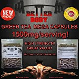 NATURAL GREEN TEA 120X750mg MEGA Capsules (Fat Burner, Antioxidant, Colon Cleansing, Liver Detoxifier, Skin Health, Slimming, Weight Control, Diet)