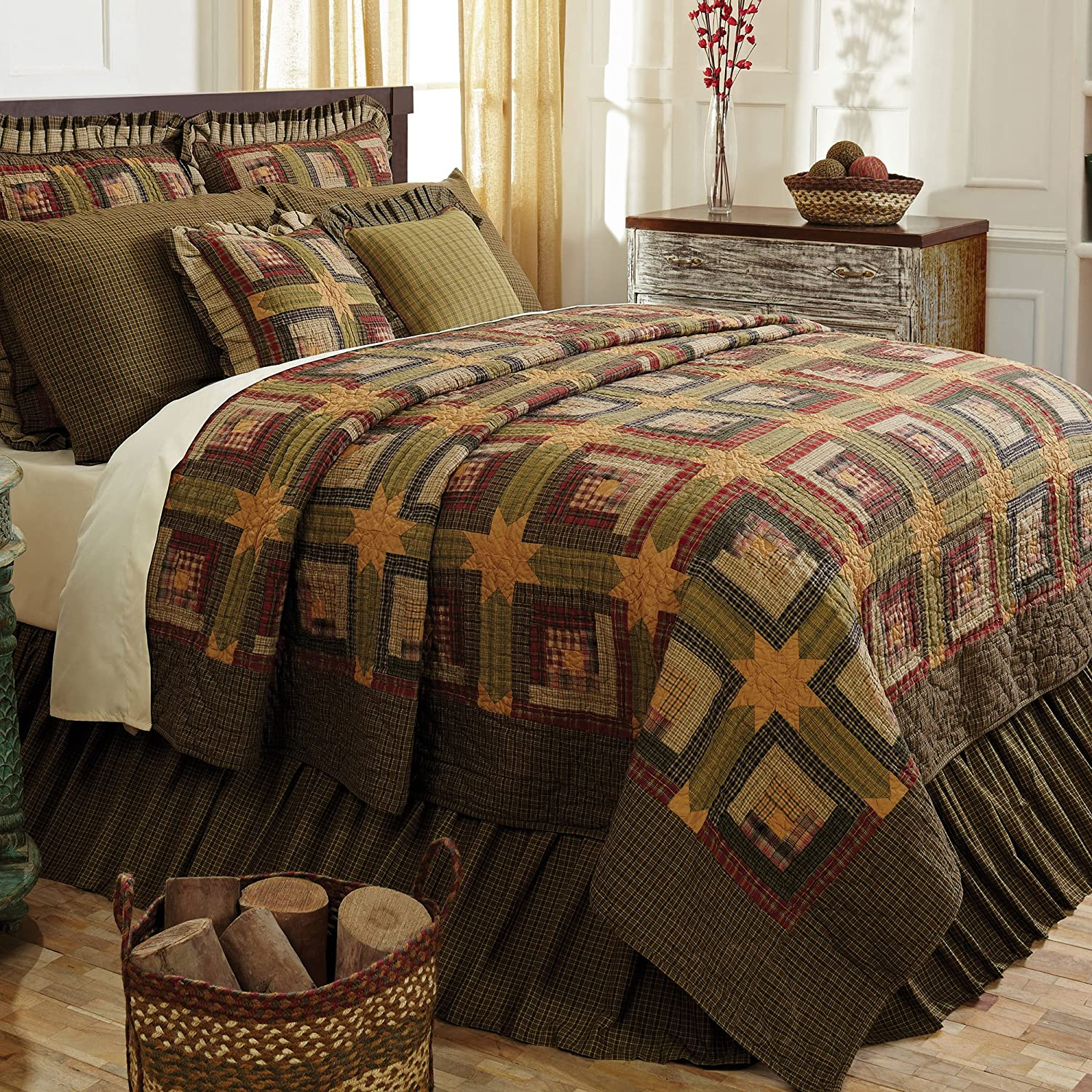 Log Cabin Bedding Quilts