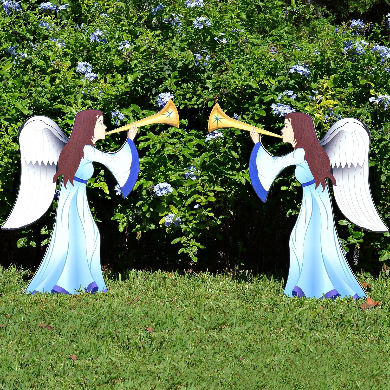 nativity scene yard stakes christmas wikii