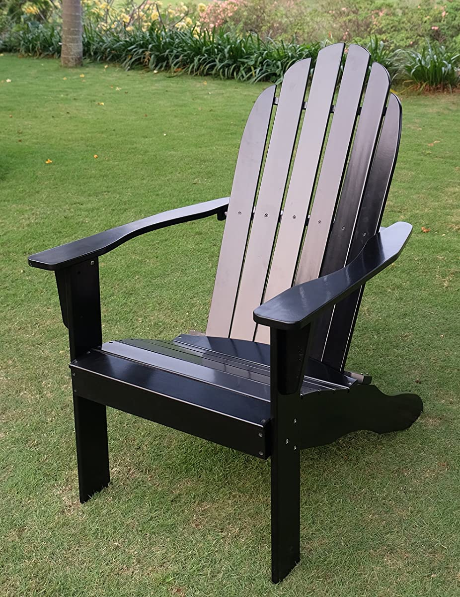 Cambridge-Casual AMZ-240252B Bentley Adirondack Chair, Black