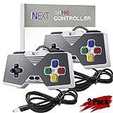 iNNEXT SNES USB Controller Gamepad Joystick, USB PC Controller Joypad Gamestick Controller Windows PC MAC Raspberry Pi (Pack of 2)