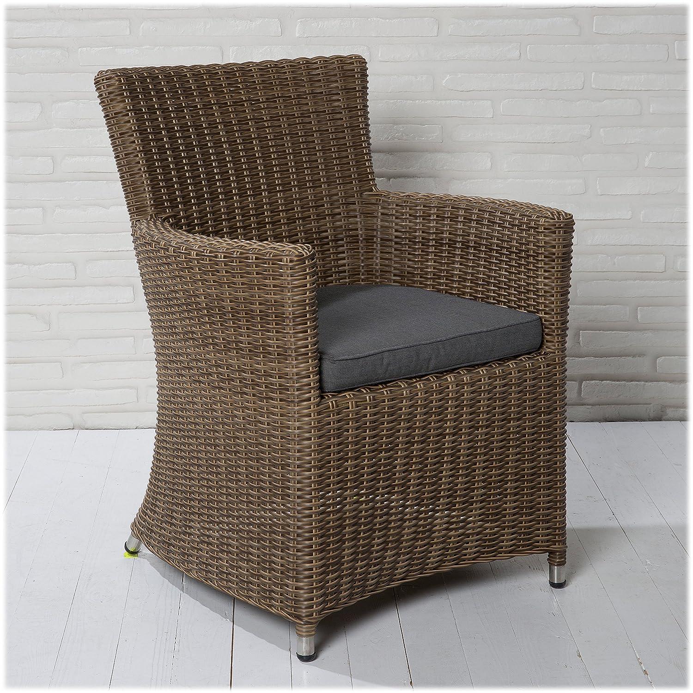 4 XL Korbsessel Gartensessel braun Gartenstühle Gartenmöbel Set Wintergarten online bestellen