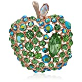 Betsey Johnson Apple Brooches and Pins, Green, One Size