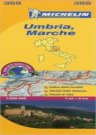 Michelin Map Italy: Umbria, Marche 359 (Maps/Local (Michelin)) (Italian Edition)