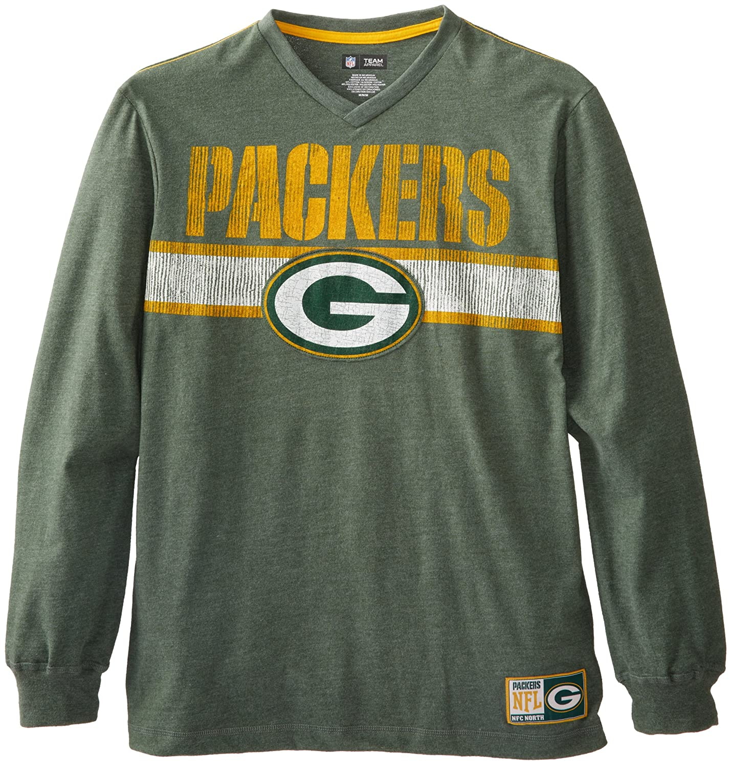 Green bay packers long sleeve men 39 s t shirt from for South bay t shirts
