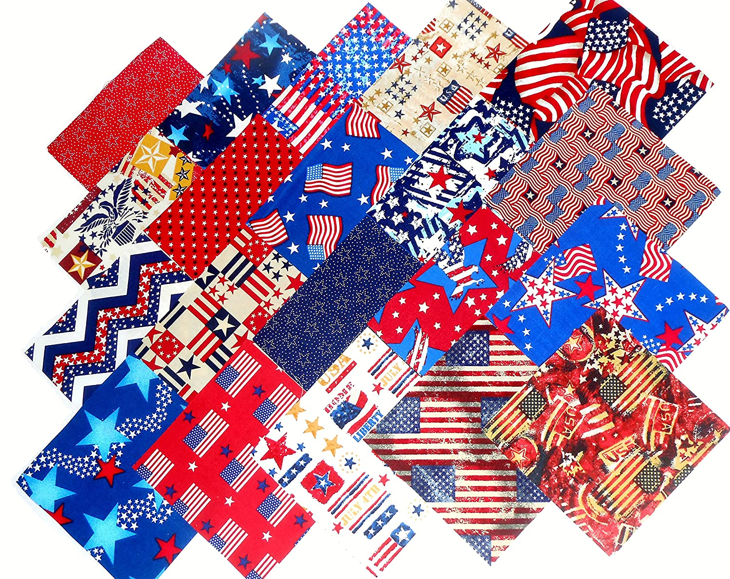 Quilt Patterns 4 Different Fabrics : Fourth of July Fabric Quilt Squares Fourth Of July Wikii