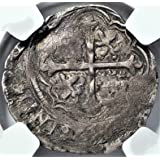 MX 1556-98 Spanish Mexico Coins King Philip II of Spain Antique Silver Coin Real VF30 NGC