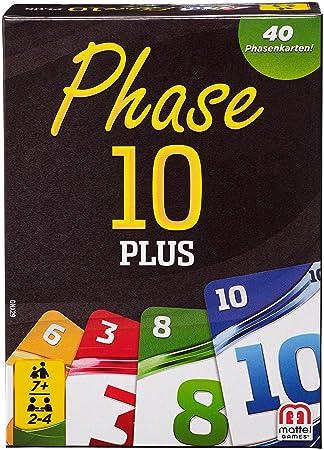 Mattel Jeux dnx29–Jeux de cartes, phase 10Plus