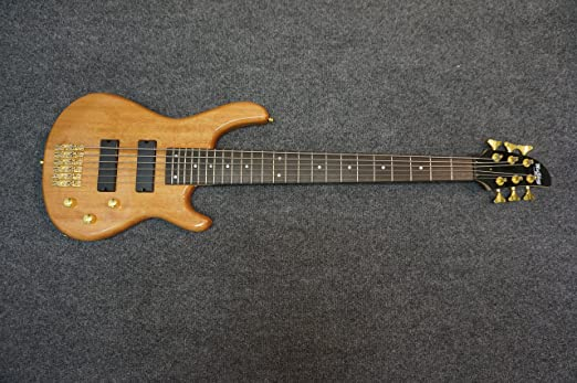 6 string Electric Bass Guitar, solid wood body