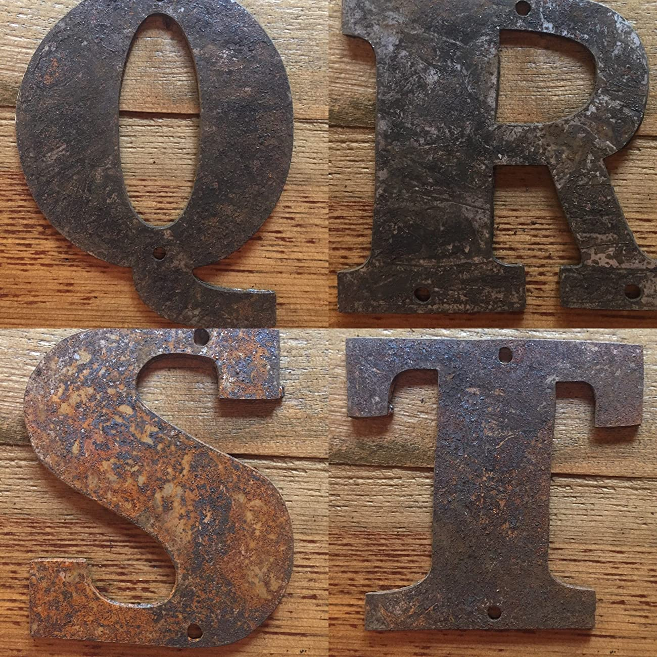 Rusty Metal Letters - Predrilled - 4